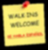 Walk in welcome. We speak spasnish. Se habla espanol.