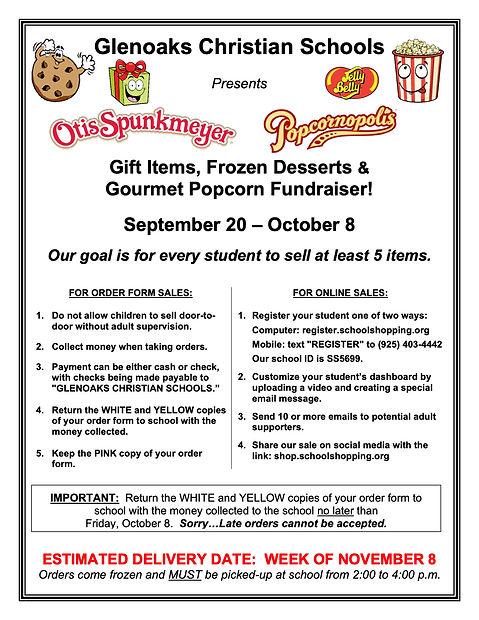 Glenoaks Christian Gift-Popcorn-Frozen-Jelly Belly Sale Parent Letter Fall 2021.jpg