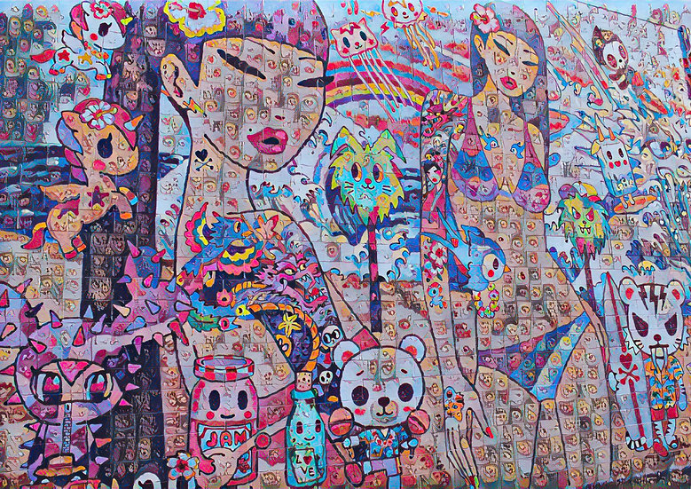 Hawaii x  Hawaii - Street Mural, Collided Version