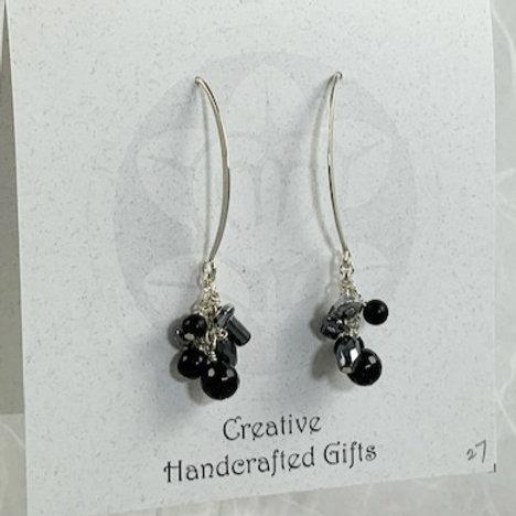 Black Spinel & Hemetite Earrings