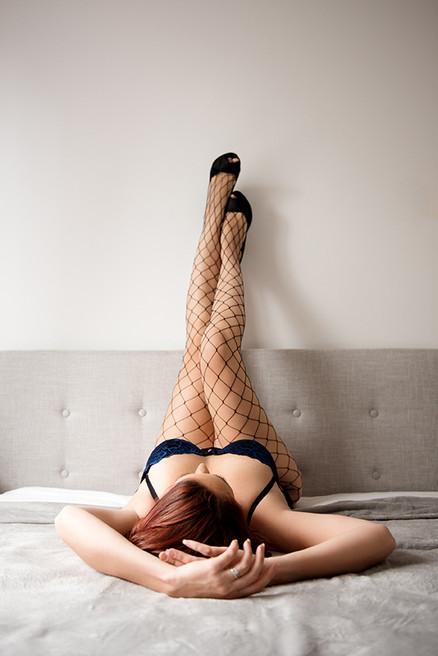boudoir legs up wall