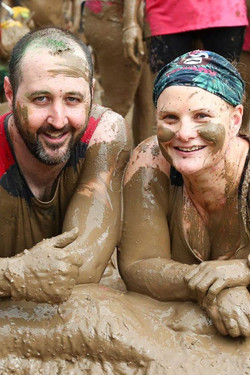 Dave and Mel muddy rumble