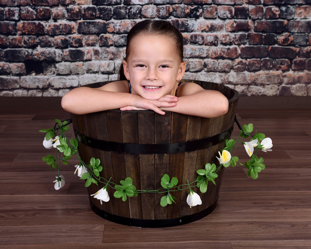 kids in buckets