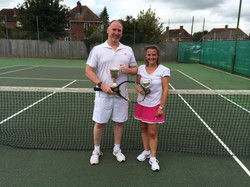 Singles winners Paul and Tanya