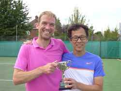 Mens Doubles winners Dave & Tomo
