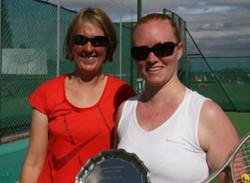 Plate runner-up Gemma & winner Steph