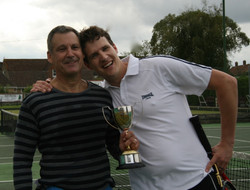 Doubles winners Rob and Christoph