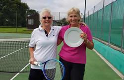 Plate winner Pam with Paula