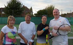 mixed doubles winners and runners-up