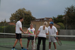 Mixed finalists shaking hands