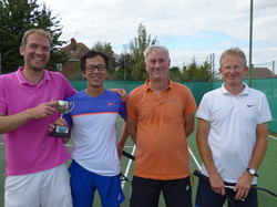 Mens Doubles winners and finalists