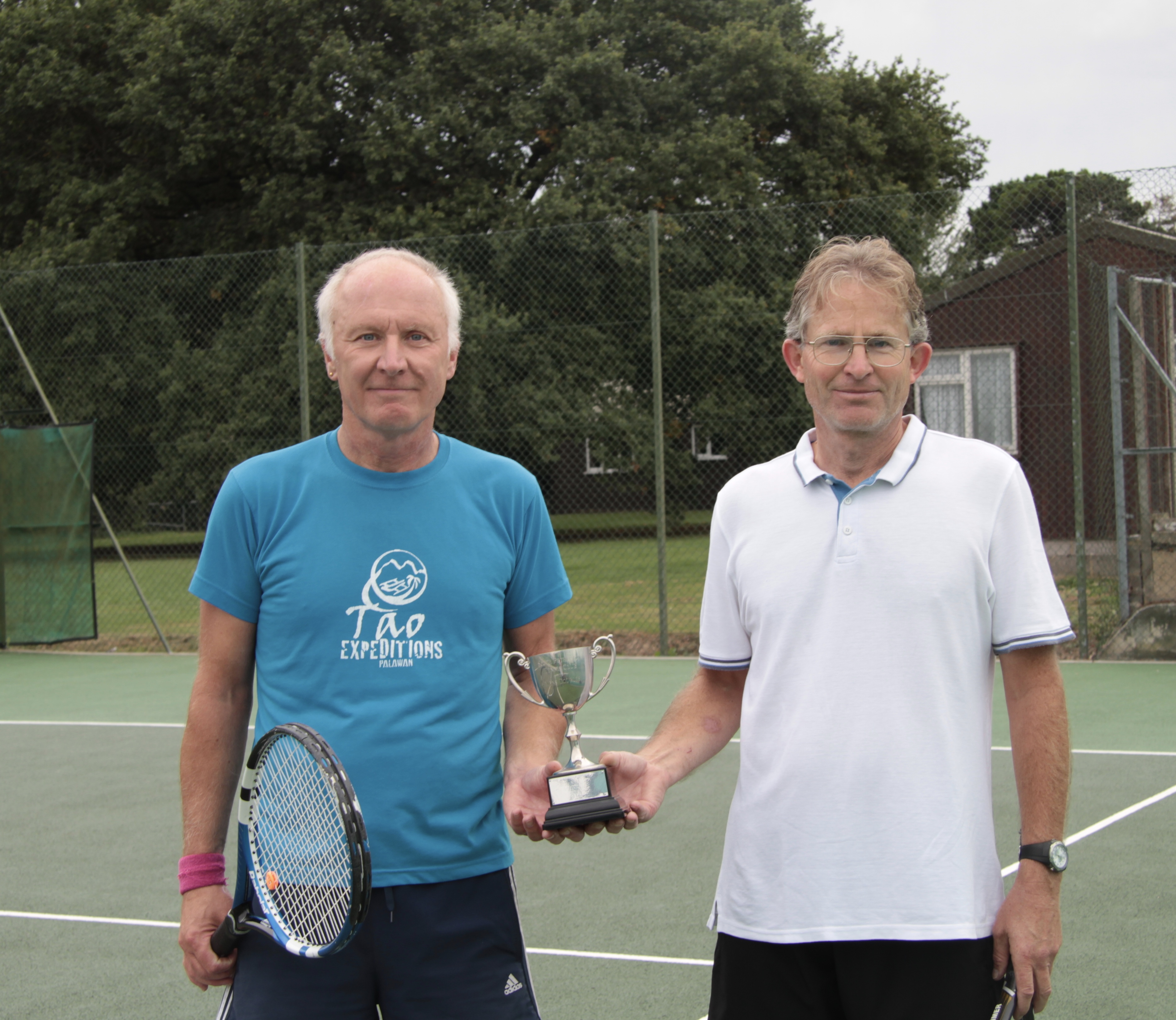 Mens winners Matthew and Charles