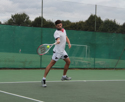 Dan playing a forehand