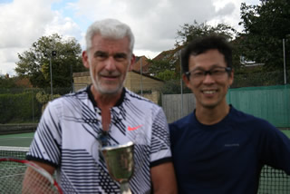 Doubles winners James and Tomo