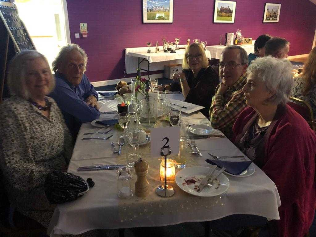Guests at their table