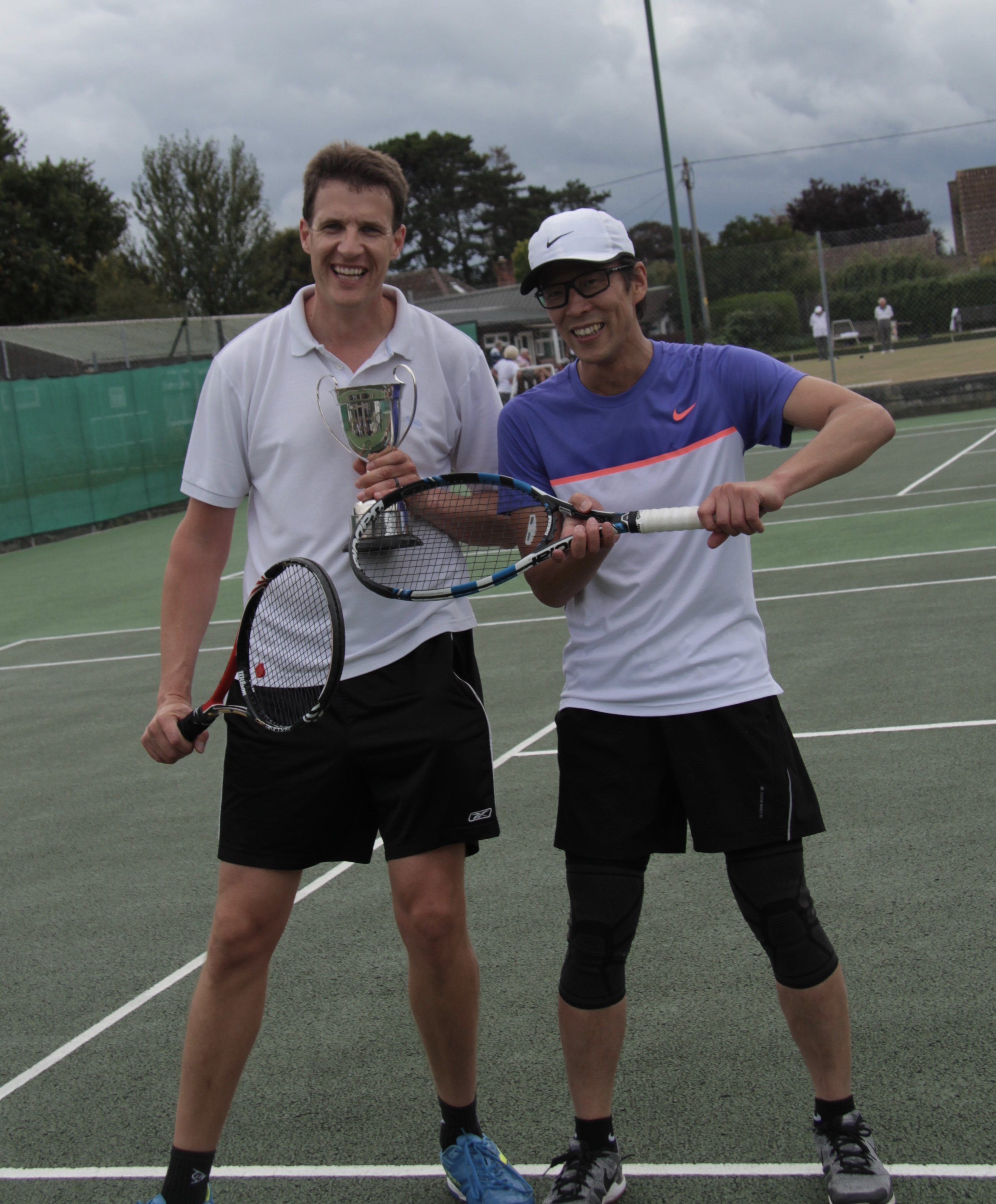 Mens singles winner Christoph (left)