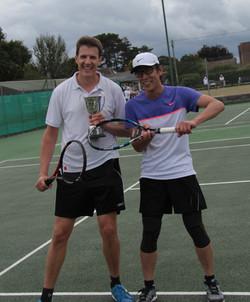 Mens singles winner Christoph (left)