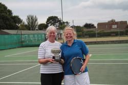 Ladies winners Liz and Zena