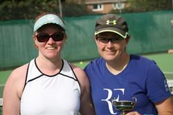 Singles runner-up Steph & winner Nat
