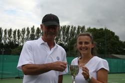 Mixed winners Freddie and Tanya