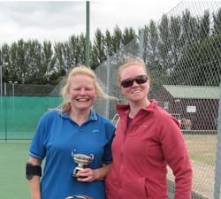 Ladies singles winner Zena (left)
