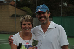 Mixed winners Sue and Ben