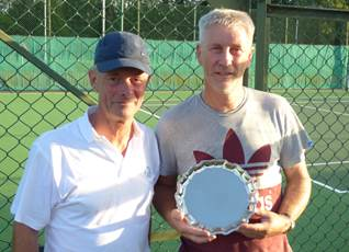 Plate winner Paul and runner-up