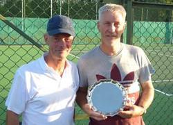 Plate winner Paul and runner-up