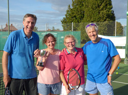 Mixed doubles winners and finalists