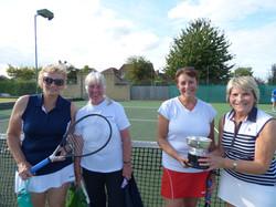Winners Barb & Sue(r) with Pam & Liz