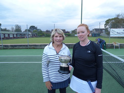 Doubles winners Sue and Steph