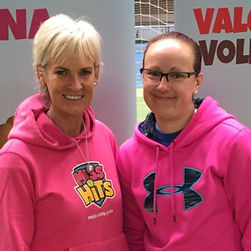 Coach Natalie with Judy Murray