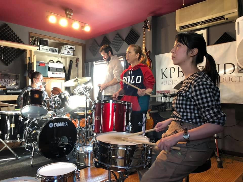 Drum Town Girls practice KPB studio.jpg