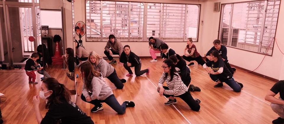 Drum Town Girls Cast warmup.jpg