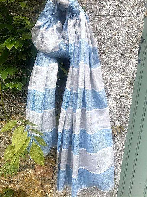 Blue Stripe Cashmere Blend