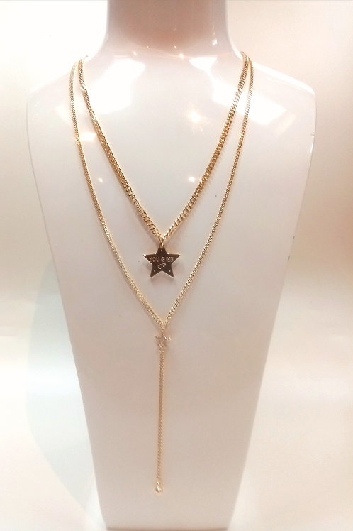 Double Chain Star Necklace