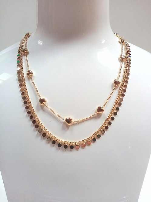 Double-Chain Fashion Necklace