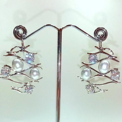 Swarovski & Pearl Earrings