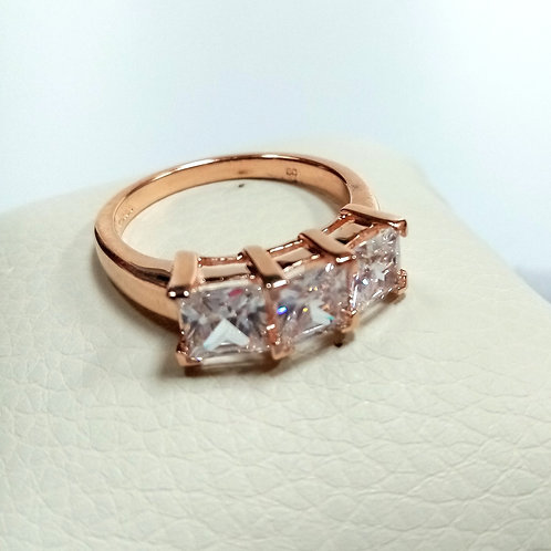 Silver Ring with Rose Gold Plating