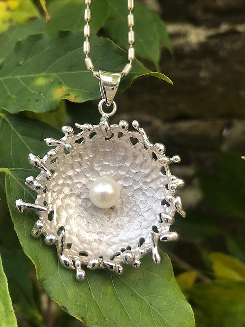 Silver Pendant with Cultured Pearl