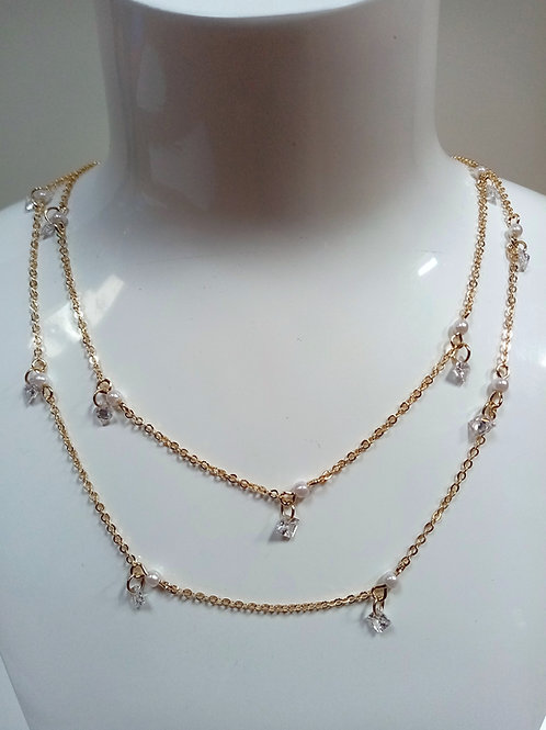 Fashion Necklace with Double Chain