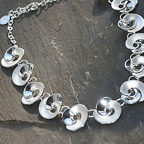 Silver Rosebud Necklace
