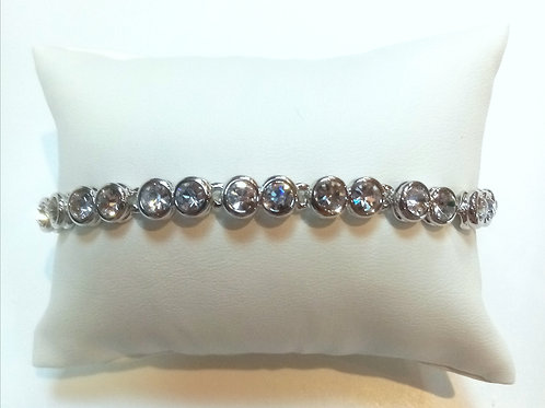 Silver Plated Tennis Bracelet