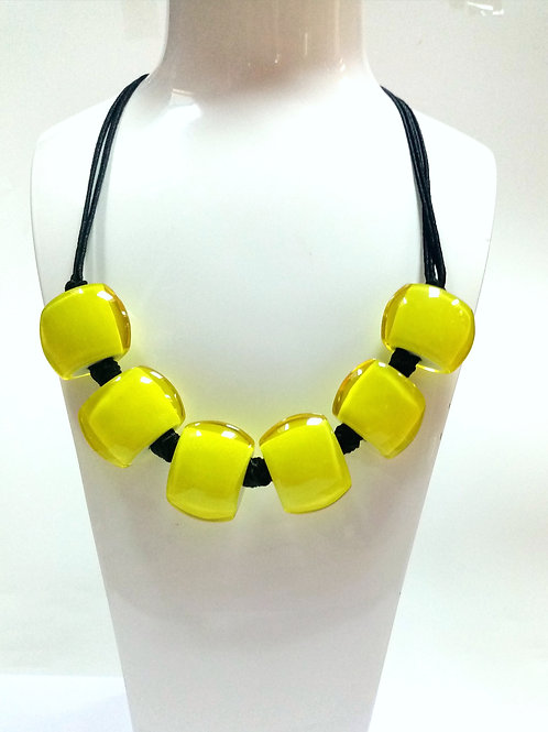 Lime Green Resin Necklace