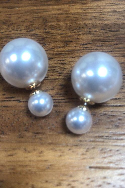 Large Back Pearl Earrings