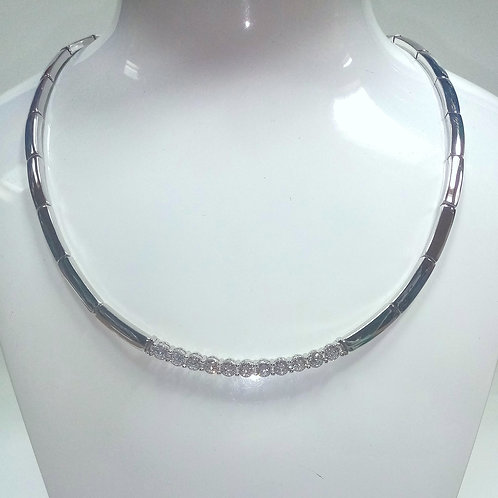 Silver Necklace with Rhodium