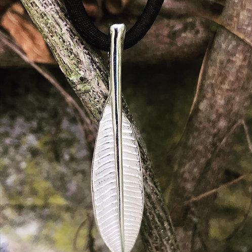 Silver Leaf on Silk
