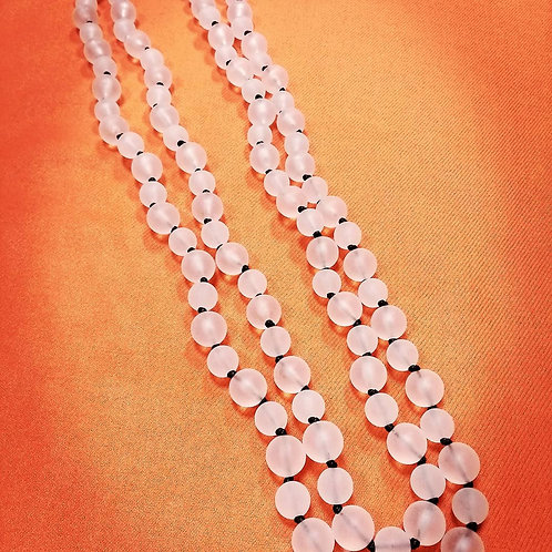 Long Frosted necklace