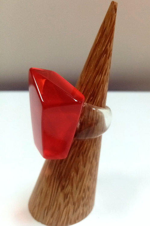 Red Statement Ring