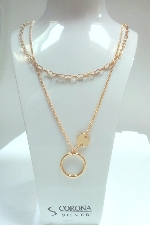 Double Layered Fashion Necklace